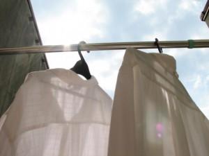 洗濯したシャツ
