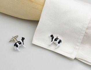 牛のカフスボタン