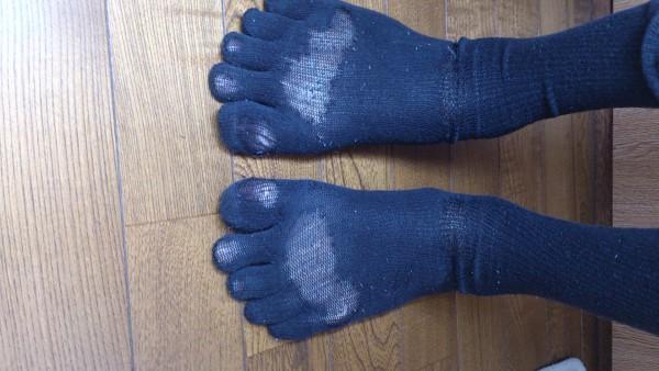五本指靴下を逆に履くと