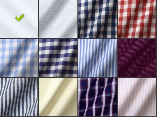 色々なシャツの生地