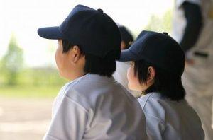 少年野球の男の子