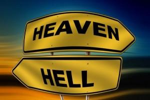 天国と地獄の看板