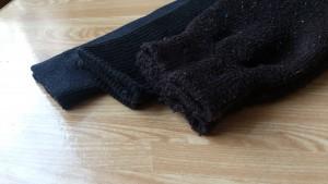靴下の厚み