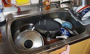 洗い物の山