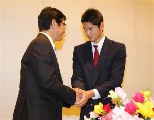 大谷翔平の入団記者会見