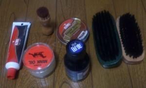 靴磨きの道具
