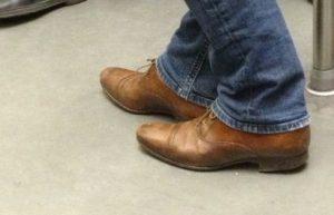 いい感じの革靴の皺