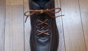 長い靴紐が短くなった