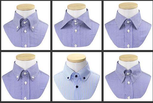 シャツの襟の形