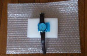 磨き終えた腕時計