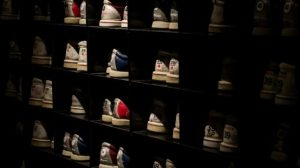 靴屋の陳列